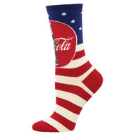 Americana Coca-Cola Coke One Size Fits Most Navy Ladies Socks