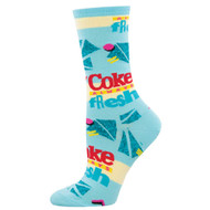 Always Fresh Coke One Size Fits Most Blue Ladies Socks