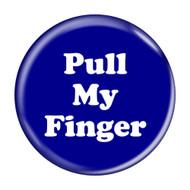 """Pull My Finger Fart Dark Blue 2.25"""" Refrigerator Bottle Opener Magnet"""