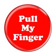 "Pull My Finger Fart Red 2.25"" Refrigerator Bottle Opener Magnet"