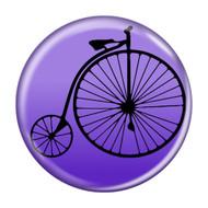 Enthoozies Bike Penny Farthing  Cycling Biking Purple 1.5 Inch Diameter Refrigerator Magnet