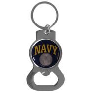 Navy Bottle Opener Key Chain