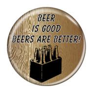 Beer Memes Wood Grain Refrigerator Magnets