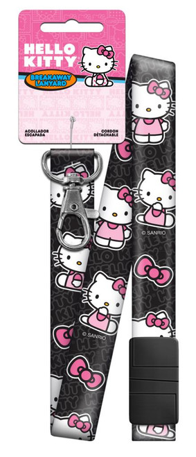 Hello Kitty Black Lanyard Keychain