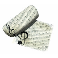 Music Note Eyeglass Case and Cleaner