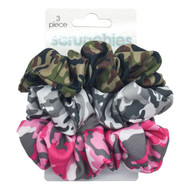 Camouflage Scrunchies (3-Pack)