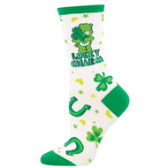 Care Bears Lucky Charm One Size Fits Most White Ladies Socks