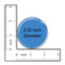 "Dog Mom Paw Print Aqua 1.5"" Pinback Button"