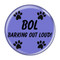 """Enthoozies BOL Barking Out Loud! Red 1.5"""" Refrigerator Magnet"""