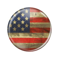 """Enthoozies Distressed USA Flag Rustic Patriotism 2.25"""" Refrigerator Magnet Bottle Opener - Made in the USA"""