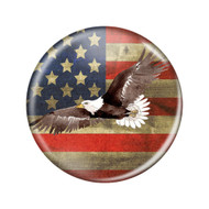 """Enthoozies Distressed USA American Flag Eagle Flying Rustic 2.25"""" Refrigerator Magnet Bottle Opener"""