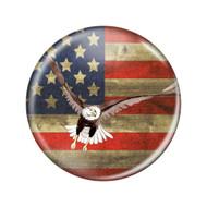 """Enthoozies Distressed USA US Flag Eagle Landing Rustic Patriotism 2.25"""" Refrigerator Magnet Bottle Opener"""