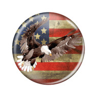 """Enthoozies Distressed USA Flag Bald Eagle Rustic 2.25"""" Patriotism Refrigerator Magnet Bottle Opener"""
