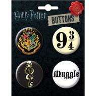 Harry Potter 4 Piece Button Set - 82696