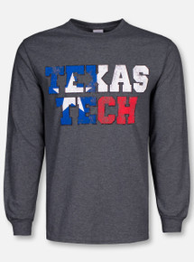"""Texas Tech Red Raiders """"State Flag Stack"""" Long Sleeve T-Shirt"""