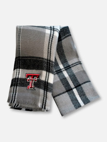 "Zoozatz Texas Tech Red Raiders ""Tailgate"" Plaid Blanket Scarf"