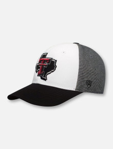 "Top of the World Texas Tech Red Raiders Lone Star Pride Logo ""Hustle"" Stretch Fit Cap"