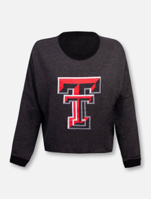 "Texas Tech Red Raiders Double T ""Flash Dance"" Long Sleeve Crop Top"