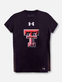 """Under Armour Texas Tech Red Raiders """"Shimmer"""" YOUTH Girls Short Sleeve T-Shirt"""