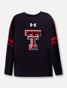 "Under Armour Texas Tech Red Raiders ""Varsity"" YOUTH Black Long Sleeve T-Shirt"