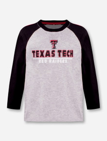 "Arena Texas Tech Red Raiders Double T ""Toesidel"" TODDLER Long Sleeve Raglan"