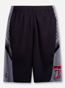 "Under Armour Texas Tech Red Raiders ""Peak"" YOUTH Black Shorts"