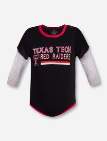 "Arena Texas Tech Red Raiders Double T NFANT ""Button Lift 2-Fer""Onesie"