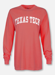 Texas Tech Red Raiders Classic Arch in White Long Sleeve T-Shirt