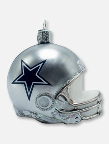Texas Tech Red Raiders Dallas Cowboys Helmet Glass Blown Ornament