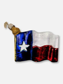 Texas Tech Red Raiders Texas State Flag Glass Blown Ornament