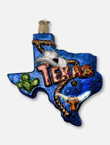 Texas Tech Red Raiders Texas State of Texas Glass Blown Ornament