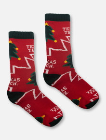 Texas Tech Red Raiders Christmas Tree Crew Socks