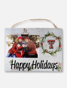 Texas Tech Red Raiders Happy Holidays with Double T Clip Frame