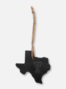 Texas Tech Red Raiders  Texas Slate State Ornament with Double T