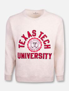 "League Texas Tech Red Raiders  Double T ""Stadium Seal"" Oatmeal Crew"