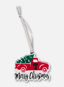 """Texas Tech Red Raiders """"Truck with Tree"""" Ornament"""