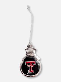 FTH Texas Tech Red Raiders Double T Snowman Ornament