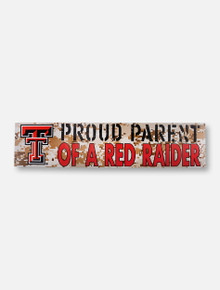 "Texas Tech Red Raiders Double T ""Proud Parent"" on Marine Digi Camo Wall Decor"