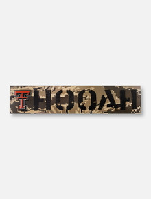 "Texas Tech Red Raiders Double T ""Oorah"" on Marine Digi Camo Wall Decor"