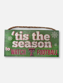 "Texas Tech Red Raiders ""Watch Football"" Wall Decor"