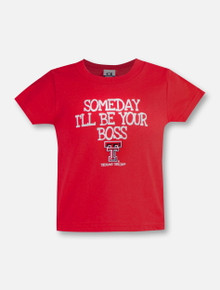 """Texas Tech Red Raiders Double T """"Someday I'll be Your Boss"""" Infant T-Shirt"""