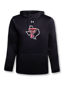 """Under Armour Texas Tech Red Raiders """"Captain Pride"""" Fleece Pullover Hood in Black front"""