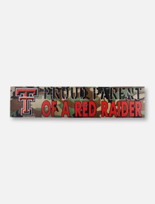 "Texas Tech Red Raiders Double T ""Proud Parent"" on Army Camo Wall Decor"