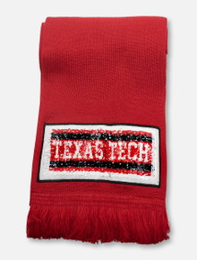 Zoozatz Texas Tech Red Raiders Reverse Sequins Scarf