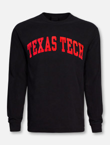Texas Tech Red Raiders Classic Arch in Red Long Sleeve T-Shirt