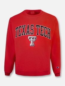 "Champion Texas Tech Red Raiders ""Washed Out"" Reverse Weave Crew Sweatshirt"