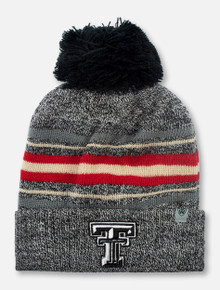 "Top of the World Texas Tech Red Raiders Black and White Double T ""Sockhop"" Knit Beanie"