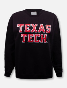 "Champion Texas Tech Red Raiders ""Rugged Glitter Football Font"" Crew Pullover"