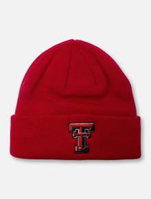 Top of the World Texas Tech Red Raiders Double T Classic Cuffed Knit Beanie