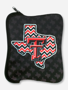 Texas Tech Chevron Lone Star Pride on Black Neoprene Tablet Case
